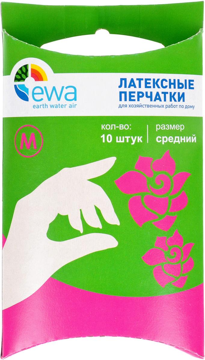 """Перчатки латексные """"Ewa"""", размер: средний, 10 шт"""