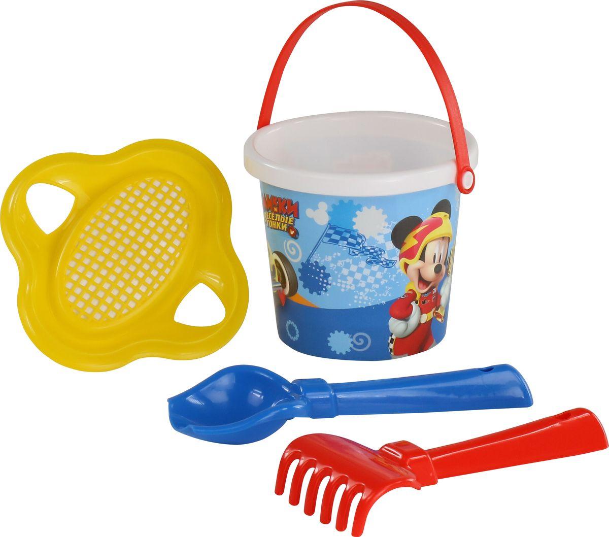 Disney Набор игрушек для песочницы Микки и Веселые гонки №2 ящики для игрушек disney короб для игрушек микки и его друзья