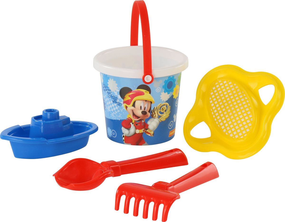 Disney Набор игрушек для песочницы Микки и Веселые гонки №3 ящики для игрушек disney короб для игрушек микки и его друзья