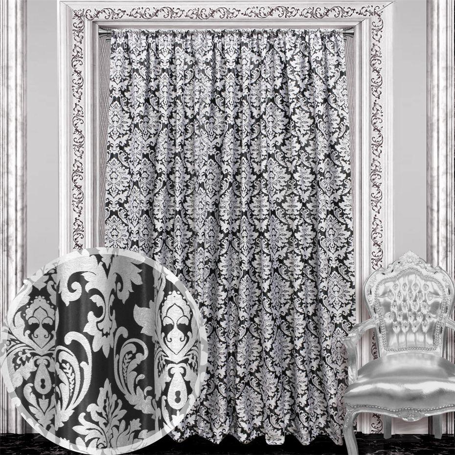 Жаккардовая портьера с атласным блеском и классическим рисунком-короной выглядит дорого и благородно. Главное ее преимущество - 70% защита от солнечного цвета. Блэкауты особенно популярны для спален и домашних кинотеатров. Изделие на шторной ленте и готово к использованию.