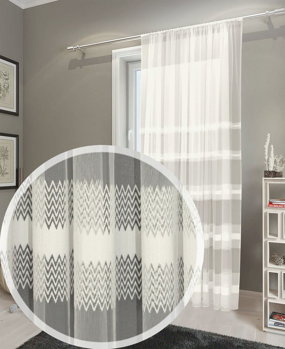 Тюль Amore Mio, на ленте, цвет: шампань, высота 270 см. 9018590185Данная модель относится к разряду классических (базовых) тюлей. В качестве орнамента использован незамысловатый, геометрический узор. Основа изделия - мелкая сетка круглой ячеистой формы. Она придает ткани легкость, воздушность, эфирность. Штора прекрасно подойдет как для оформления городского жилья, так и для декорирования загородного дома.Изделие на шторной ленте. Количество в упаковке - 1 шт. Размер - 3.0x2.7м.