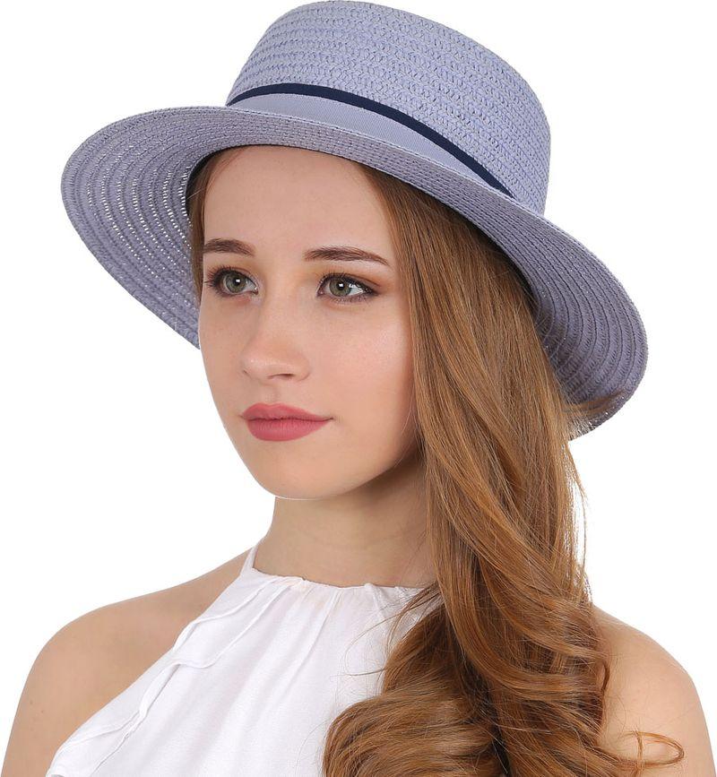 Купить Соломенная шляпа женская Fabretti, цвет: голубой. V20. Размер 56/59