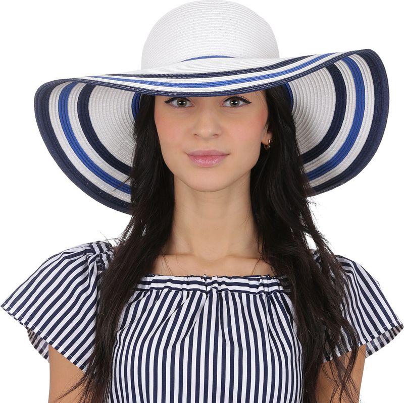 Соломенная шляпа женская Fabretti, цвет: белый. GL67. Размер 56/59