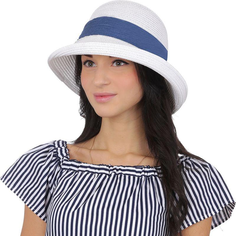 Соломенная шляпа женская Fabretti, цвет: белый. J3. Размер 56/59