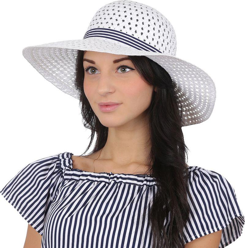 Купить Соломенная шляпа женская Fabretti, цвет: белый. V23. Размер 56/59