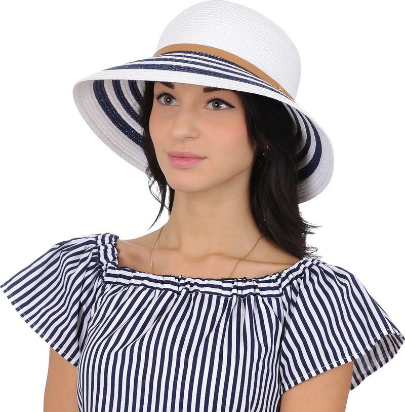 Соломенная шляпа женская Fabretti, цвет: белый. K1. Размер 56/59
