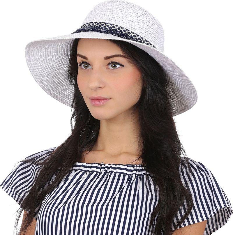 Соломенная шляпа женская Fabretti, цвет: белый. P3. Размер 56/59
