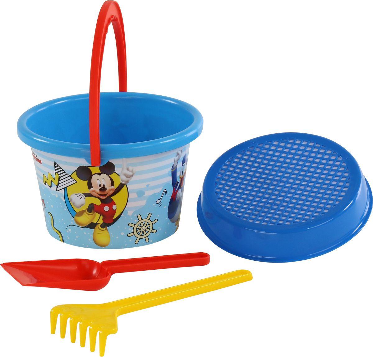 Disney Набор игрушек для песочницы Микки и Веселые гонки №6 игра настольная веселые гонки и божьи коровки
