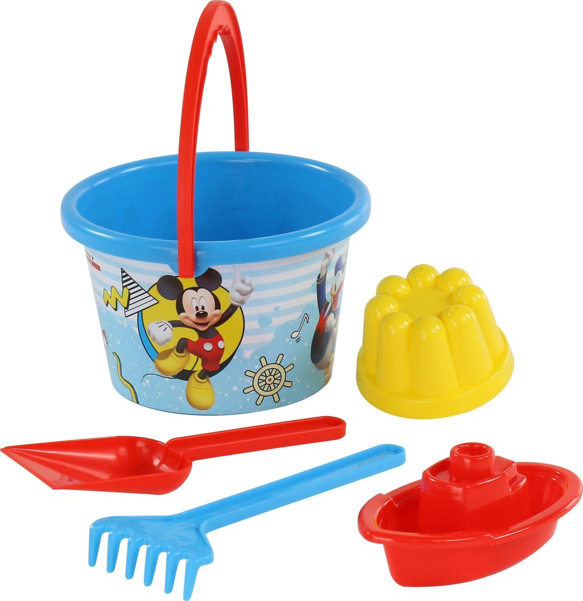 Disney Набор игрушек для песочницы Микки и Веселые гонки №7 игра настольная веселые гонки и божьи коровки