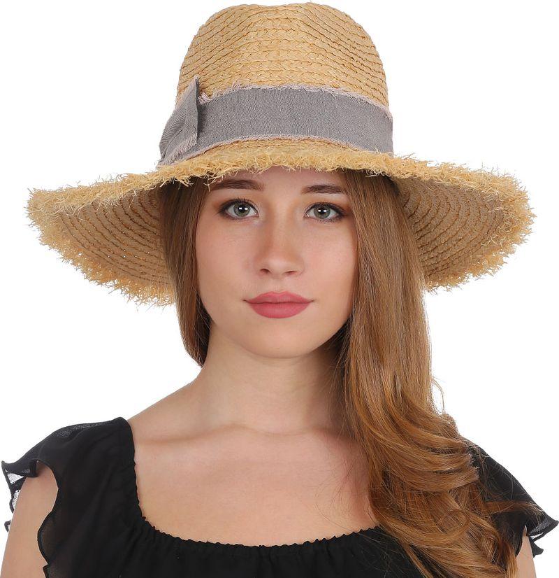 Купить Соломенная шляпа женская Fabretti, цвет: бежевый. J4. Размер 56/59