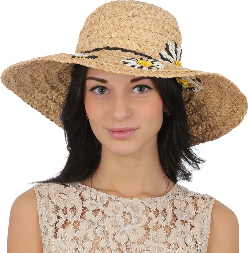 Купить Соломенная шляпа женская Fabretti, цвет: бежевый. J6. Размер 56/59