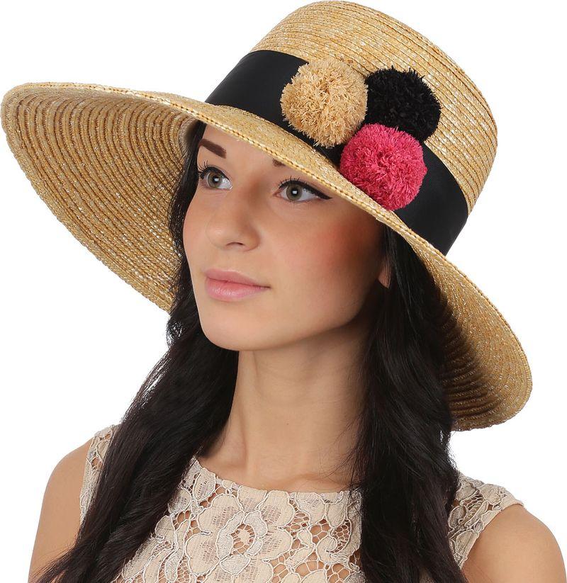 Купить Соломенная шляпа женская Fabretti, цвет: бежевый. J1. Размер 56/59