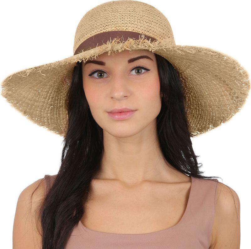 Купить Соломенная шляпа женская Fabretti, цвет: бежевый. V19. Размер 56/59