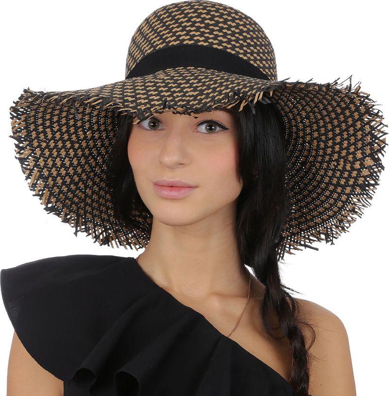 Купить Соломенная шляпа женская Fabretti, цвет: бежевый. V18. Размер 56/59