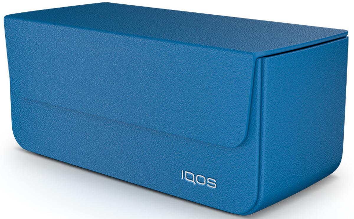 IQOSКожаный чехол для электронной сигареты, цвет:  синий IQOS