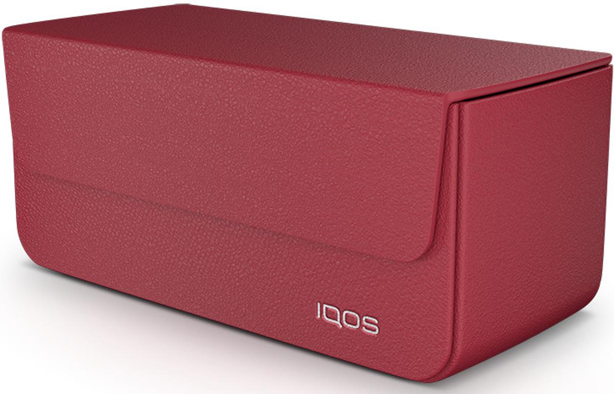 IQOS Кожаный чехол для электронной сигареты, цвет: красный