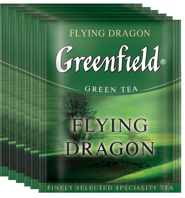 Greenfield Flying Dragon зеленый чай в пакетиках, 100 шт greenfield classic breakfast черный листовой чай 200 г