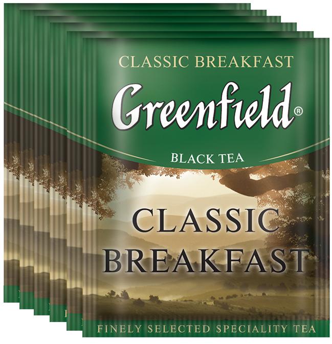 Greenfield Classic Breakfast черный чай в пакетиках, 100 шт greenfield classic breakfast черный листовой чай 200 г