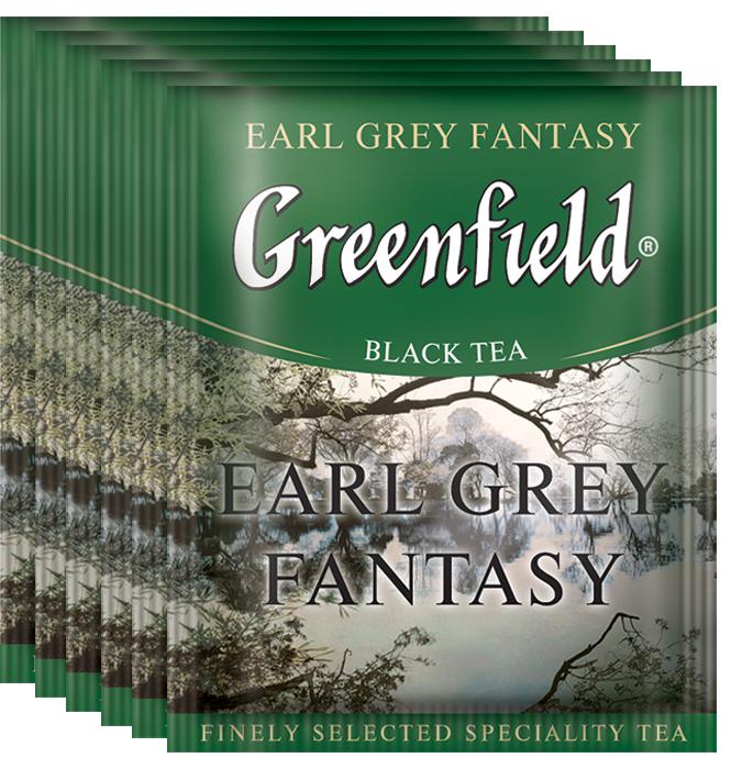 Greenfield Earl Grey Fantasy черный чай с бергамотом в пакетиках, 100 шт greenfield classic breakfast черный листовой чай 200 г
