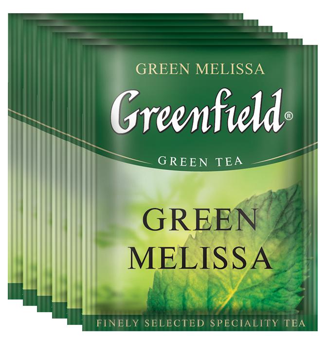 Greenfield Green Melissa зеленый чай в пакетиках, 100 шт greenfield чай greenfield классик брекфаст листовой черный 100г