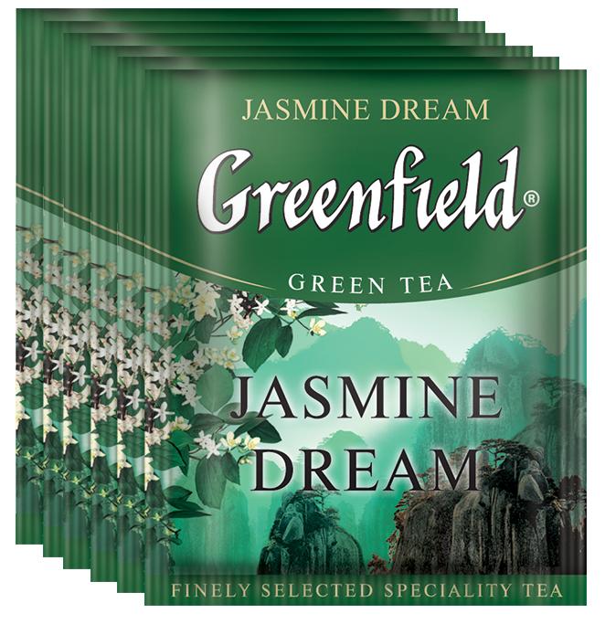 Greenfield Jasmine Dream зеленый жасминовый чай в пакетиках, 100 шт greenfield чай greenfield классик брекфаст листовой черный 100г