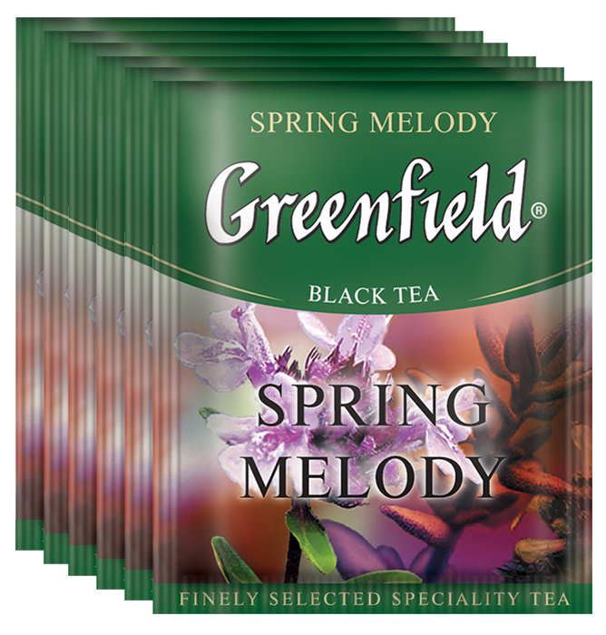 Greenfield Spring Melody черный чай в пакетиках, 100 шт greenfield classic breakfast черный листовой чай 200 г