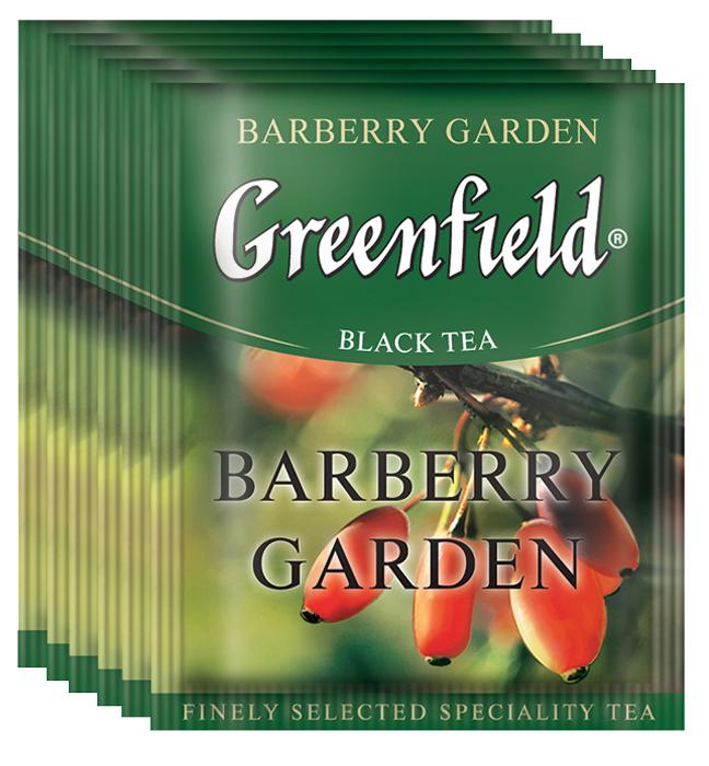 Greenfield Barberry Garden черный чай в пакетиках, 100 шт greenfield classic breakfast черный листовой чай 200 г