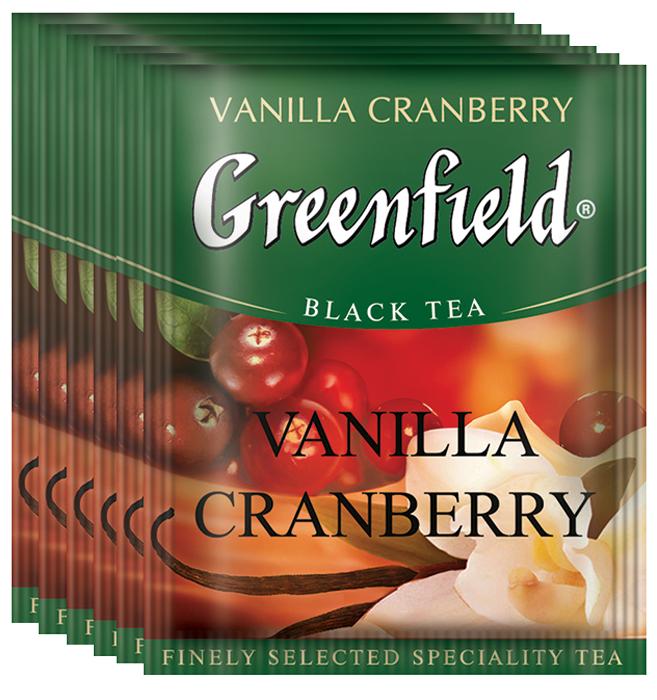 Greenfield Vanilla Cranberry черный чай в пакетиках, 100 шт greenfield classic breakfast черный листовой чай 200 г