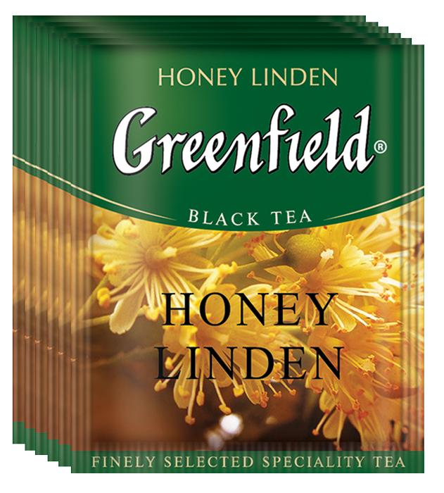 Greenfield Honey Linden черный чай в пакетиках, 100 шт greenfield classic breakfast черный листовой чай 200 г