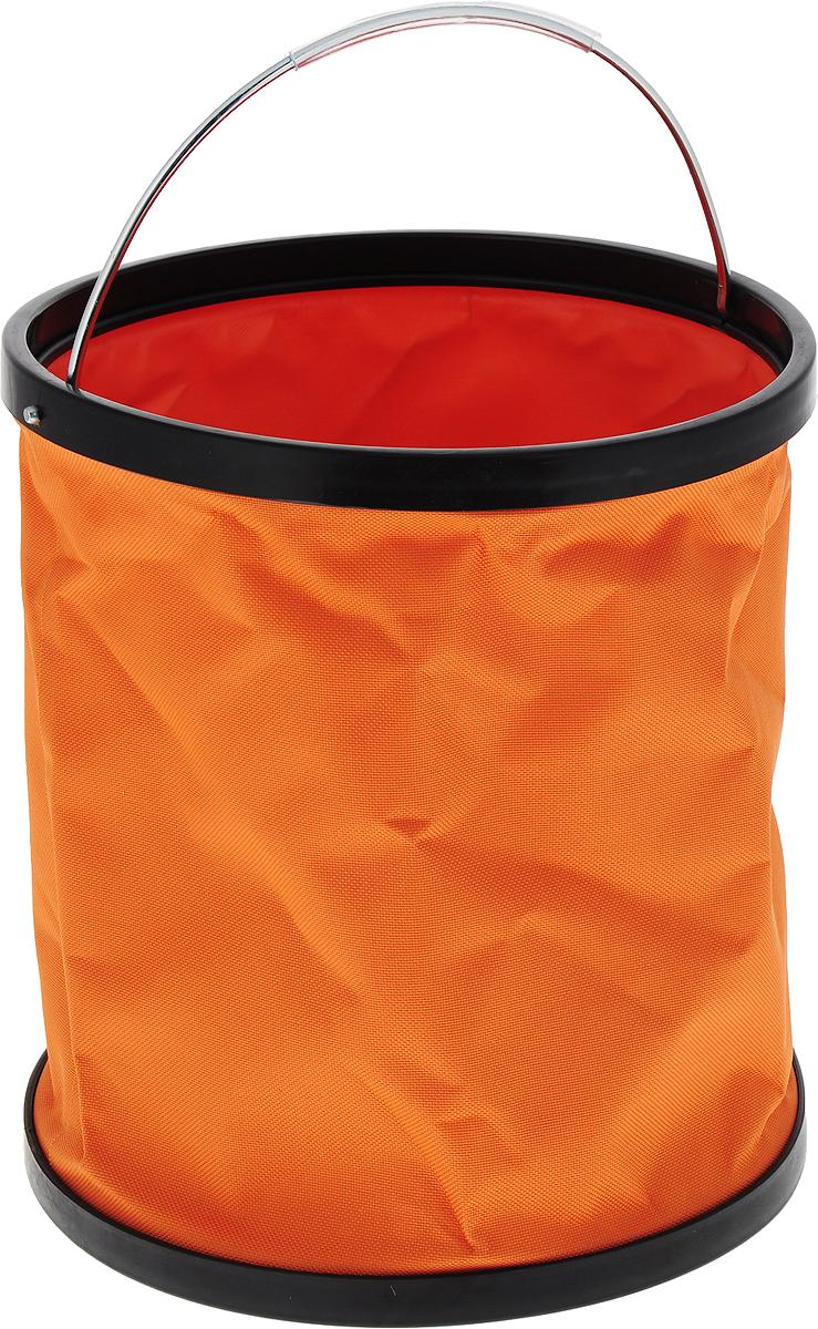 Ведро складное CityUp, цвет: оранжевый, 11 л. АR1207 ведро складное 7л o28 см голубое