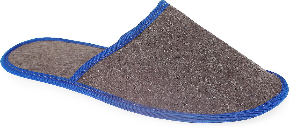"""Тапочки """"Ecology Sauna"""", из толстого войлока, с непромокаемой подошвой, цвет: серый, синий"""