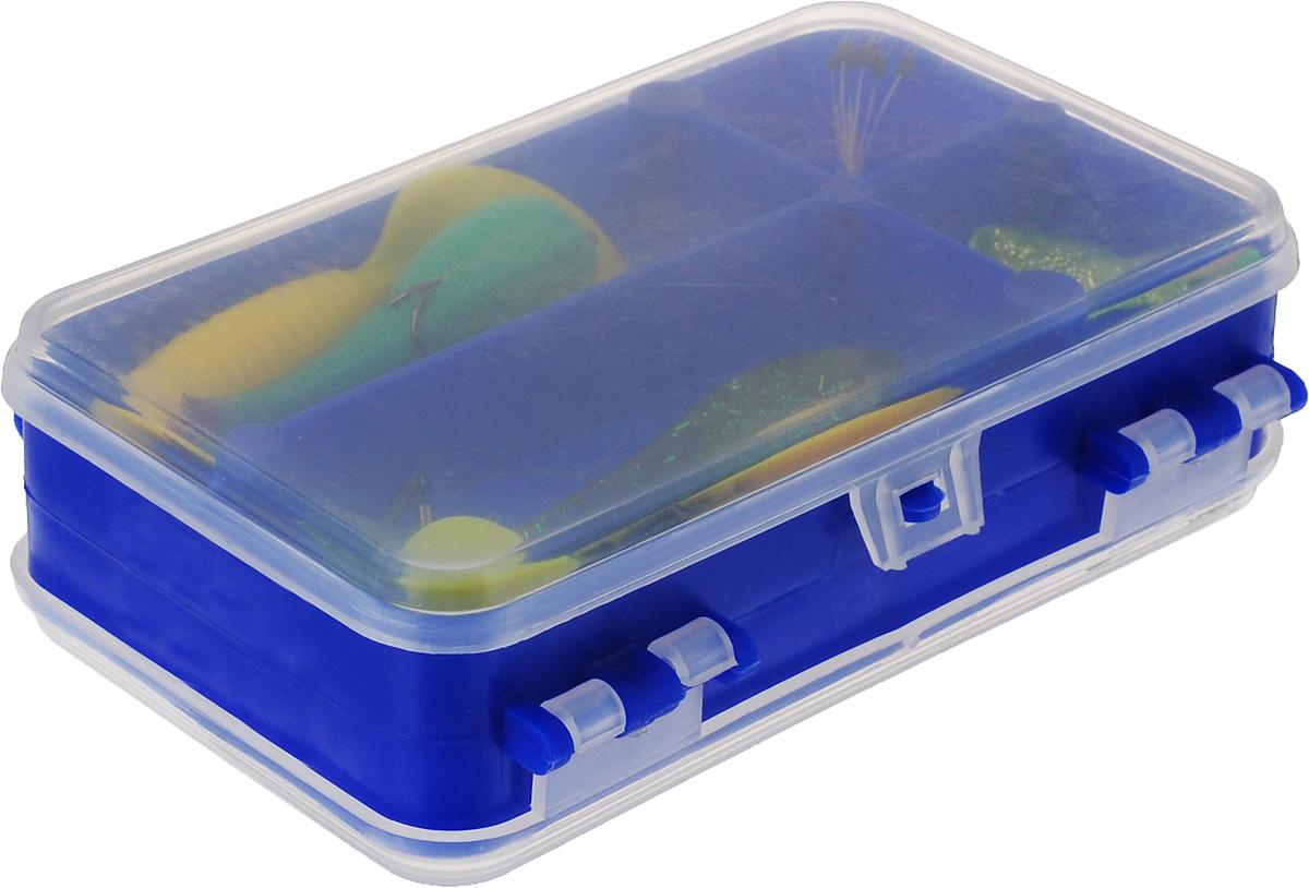 Набор спиннингиста AGP, цвет: синий, 30 оснасток мотовило agp для поводков с пружиной цвет желтый