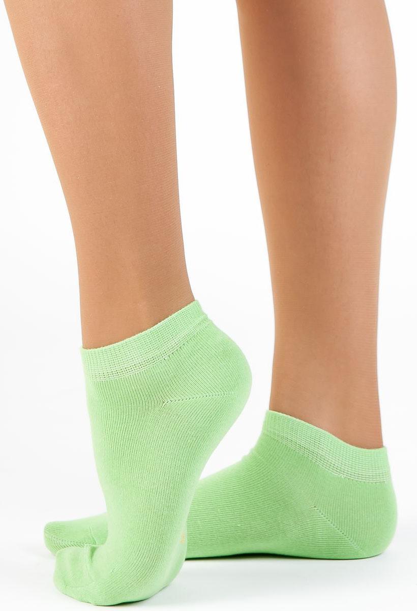Носки женские Idilio, цвет: зеленый. SW 10. Размер 35/37SW 10Комфортные укороченные носки, с добавлением экологически чистого хлопка, изготовленные без применения химических красителей.
