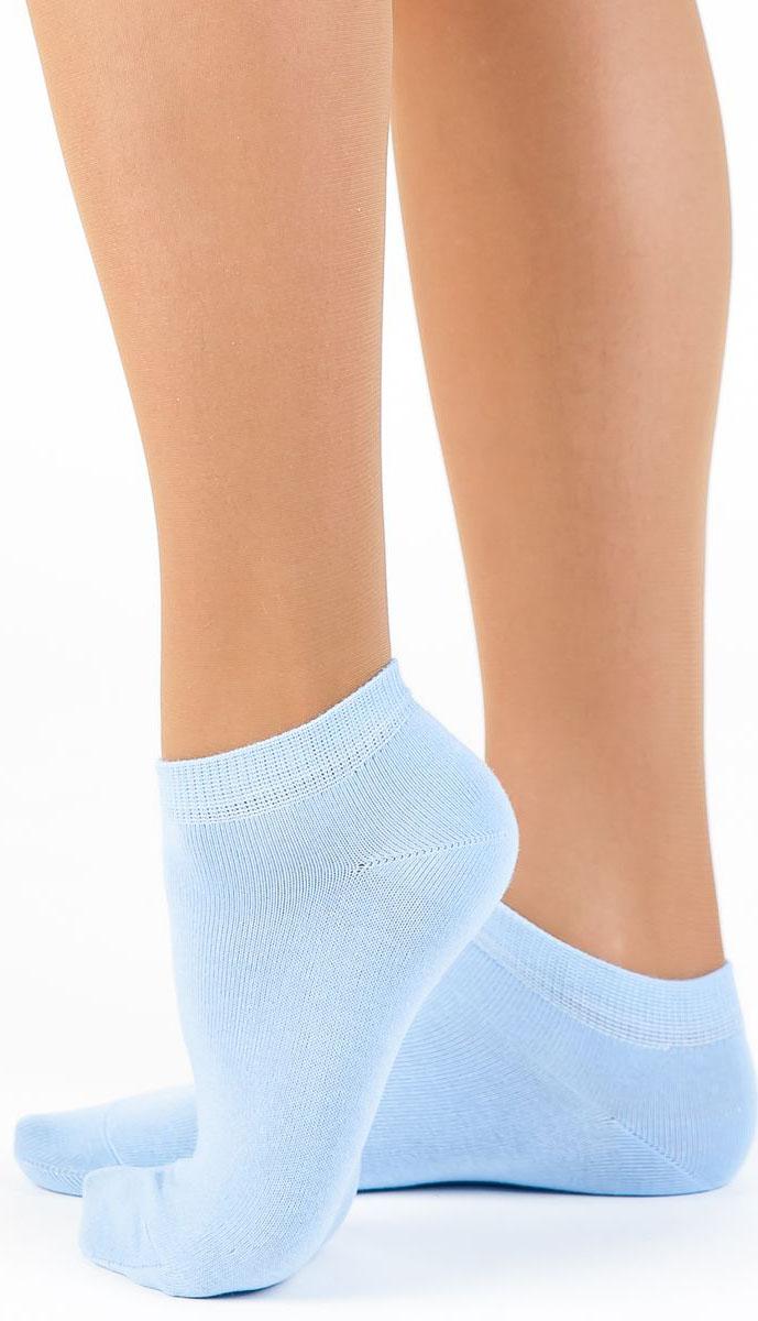 Носки женские Idilio, цвет: голубой. SW 10. Размер 38/40SW 10Комфортные укороченные носки, с добавлением экологически чистого хлопка, изготовленные без применения химических красителей.