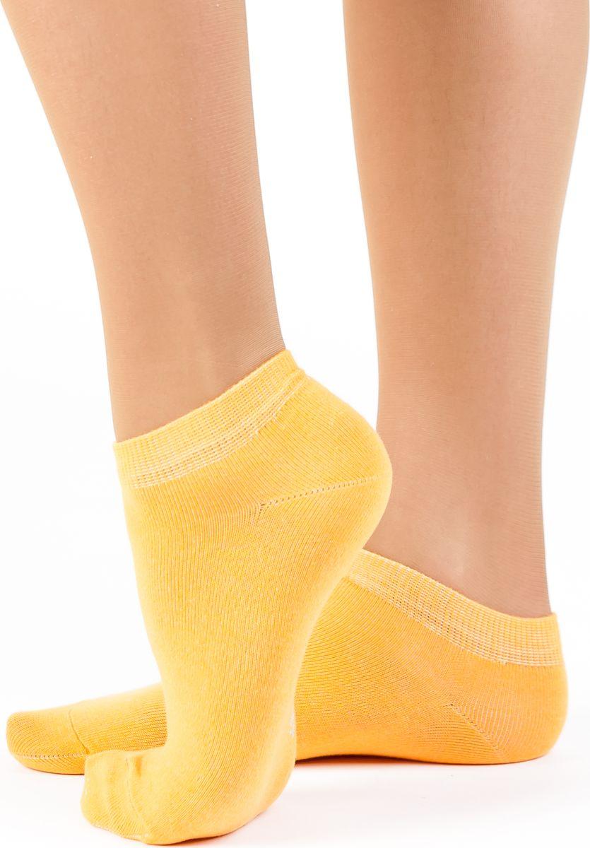 Носки женские Idilio, цвет: желтый. SW 10. Размер 38/40SW 10Комфортные укороченные носки, с добавлением экологически чистого хлопка, изготовленные без применения химических красителей.