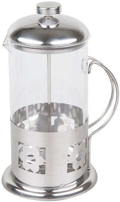 """Френч-пресс """"Rosenberg"""" изготовлен из высококачественной нержавеющей стали и термостойкого стекла.  Удобная ненагревающаяся ручка.   Фильтр-поршень из нержавеющей стали выполнен по технологии """"press-up"""" для обеспечения равномерной циркуляции воды. Засыпая чайную заварку или кофе под фильтр, заливая горячей водой, вы получаете ароматный напиток с оптимальной крепостью и насыщенностью."""