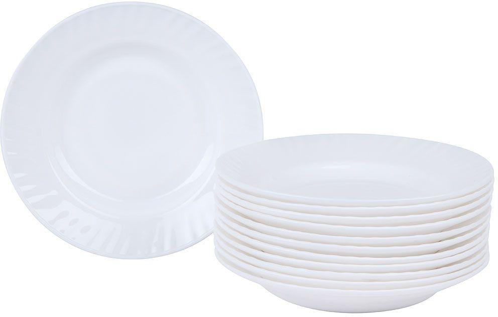 Набор суповых тарелок Rosenberg RGC-325004 станет отличным дополнением к набору кухонной посуды и прекрасно подойдет для сервировки как обеденного, так и праздничного стола. В набор входят 12 суповых тарелок глубоких 20 см. Сделаны из абсолютно безопасного материала стеклокерамики, которая не вступает в реакцию с продуктами, а также не влияет на запах и вкус. Фарфор экологически чистый материал, не вступающий в реакцию с пищей. Тарелки легко очищаются от загрязнений. Чтобы изделия прослужили вам как можно дольше, не рекомендуется использовать абразивные моющие средства.