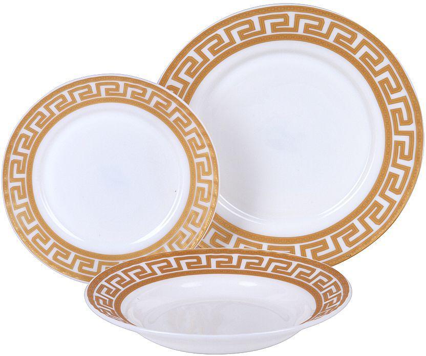 Набор столовой посуды Rosenberg RGC-100101 это идеальное решение для красивой подачи первых и вторых блюд. Набор состоит из 18 предметов и рассчитан на 6 персон, поэтому в комплекте вы найдете все необходимое: десертные, обеденные тарелки и суповые тарелки. Сервиз отлично подойдет для повседневного использования, но также идеально впишется в любой праздничный интерьер, украсив его и создав атмосферу торжественности. Оцените достоинства этого набора.  Столовый сервиз выполнен из опалового ударопрочного стекла, который обладает целым рядом преимуществ: Этот материал экологически чист, так как при его производстве не используются вредные примеси. Химически нейтрален, поэтому не влияет на вкус сервируемых блюд. Прост в уходе и использовании. Долговечен при аккуратном и осторожном обращении. Устойчив к резким перепадам температуры. Не теряет своих качеств даже после многолетнего использования. Главная особенность данного столового сервиза заключается в его великолепном дизайне, который придется по душе ценителям классического исполнения. Гармоничное сочетание простых и лаконичных форм, гладких стенок, универсального белого цвета и элегантного цветочного рисунка придает изделиям удивительно роскошный вид. Сервиз станет настоящим украшением вашей кухни.