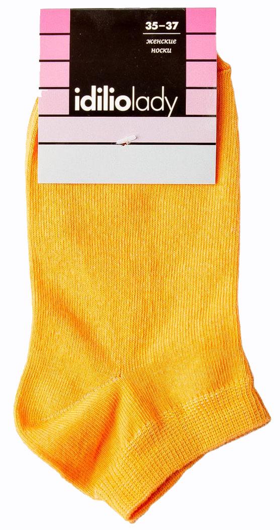 Носки женские Idilio, цвет: оранжевый. SW 10. Размер 35/37SW 10Комфортные укороченные носки, с добавлением экологически чистого хлопка, изготовленные без применения химических красителей.