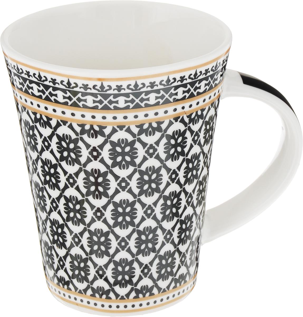 Кружка Ningbo Royal Бухара, цвет: белый, черный, 330 мл кружка кастет цвет черный серебристый
