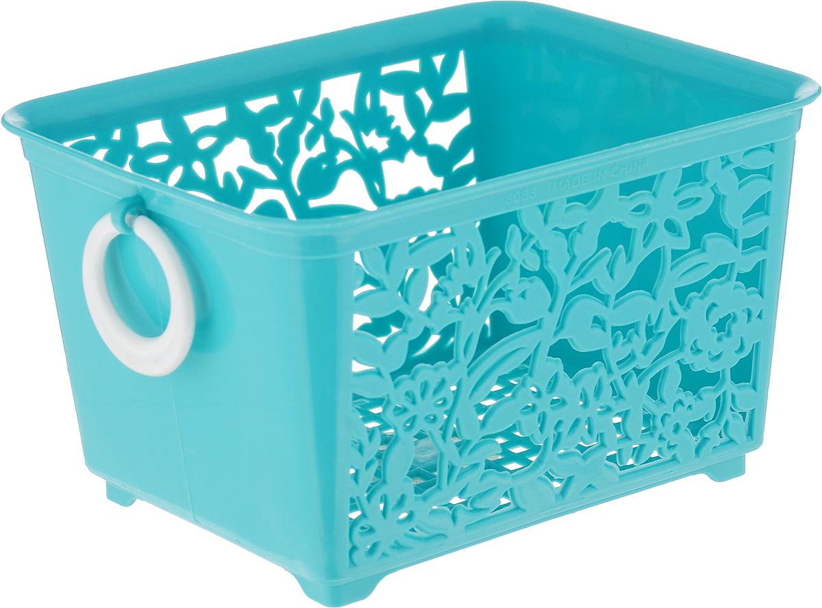 Корзина для мелочей Sima-land, цвет: ментоловый, 14 х 11,5 х 8,5 см sima land антистрессовая игрушка заяц хрустик 04 цвет зеленый