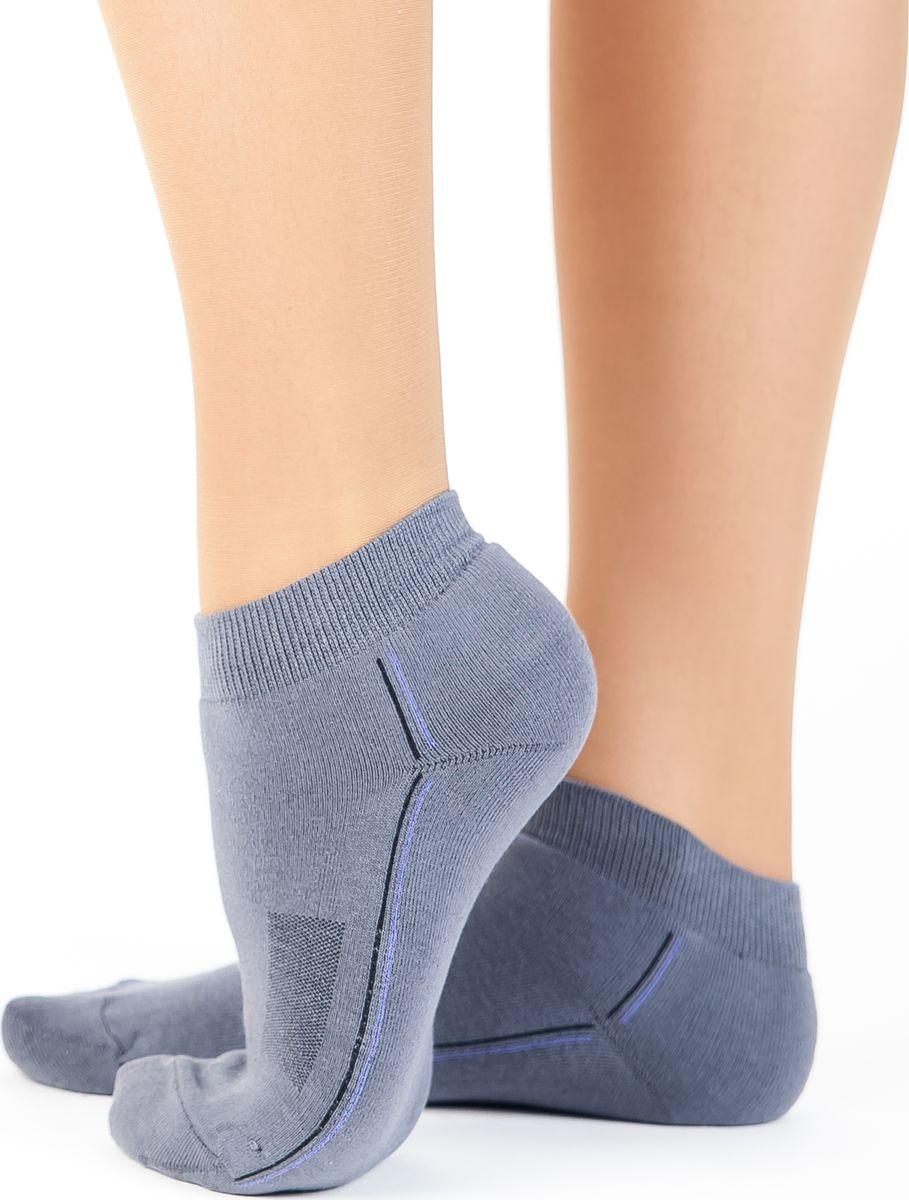 Носки женские Idilio, цвет: серый. SS 02. Размер 38/40SS 02Комфортные укороченные спортивные махровые носки, с добавлением экологически чистого хлопка, изготовленные без применения химических красителей.