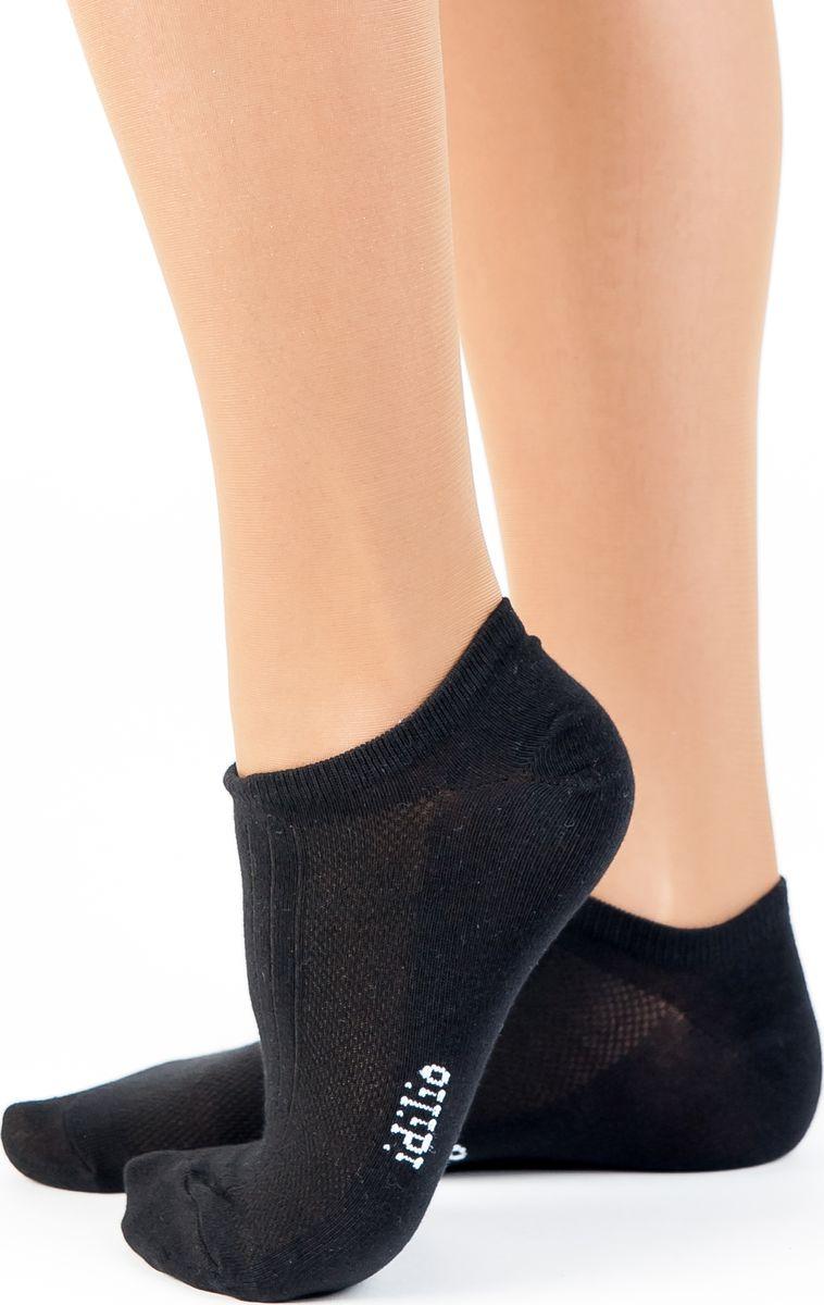 Носки женские Idilio, цвет: черный. SS 01. Размер универсальный форма для запекания appetite 22 20 4 см круглая