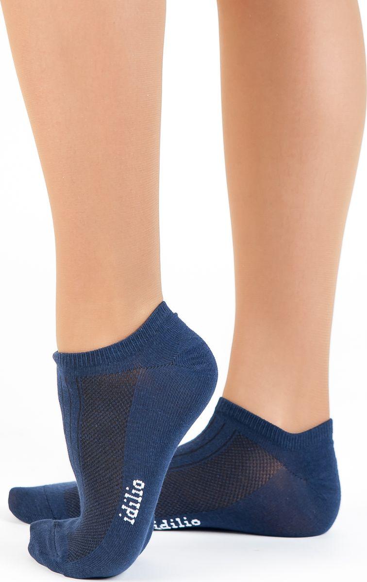 Носки женские Idilio, цвет: синий. SS 01. Размер универсальныйSS 01Комфортные укороченные спортивные носки, с добавлением экологически чистого хлопка, изготовленные без применения химических красителей.