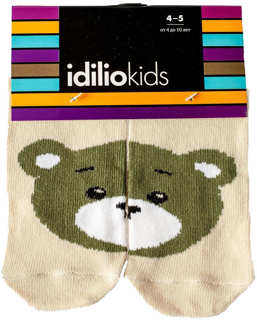 Носки детские Idilio, цвет: бежевый. SKU07. Размер 21/23SKU07Комфортные носки для детей с добавлением экологически чистого хлопка, изготовленные без применения химических красителей.