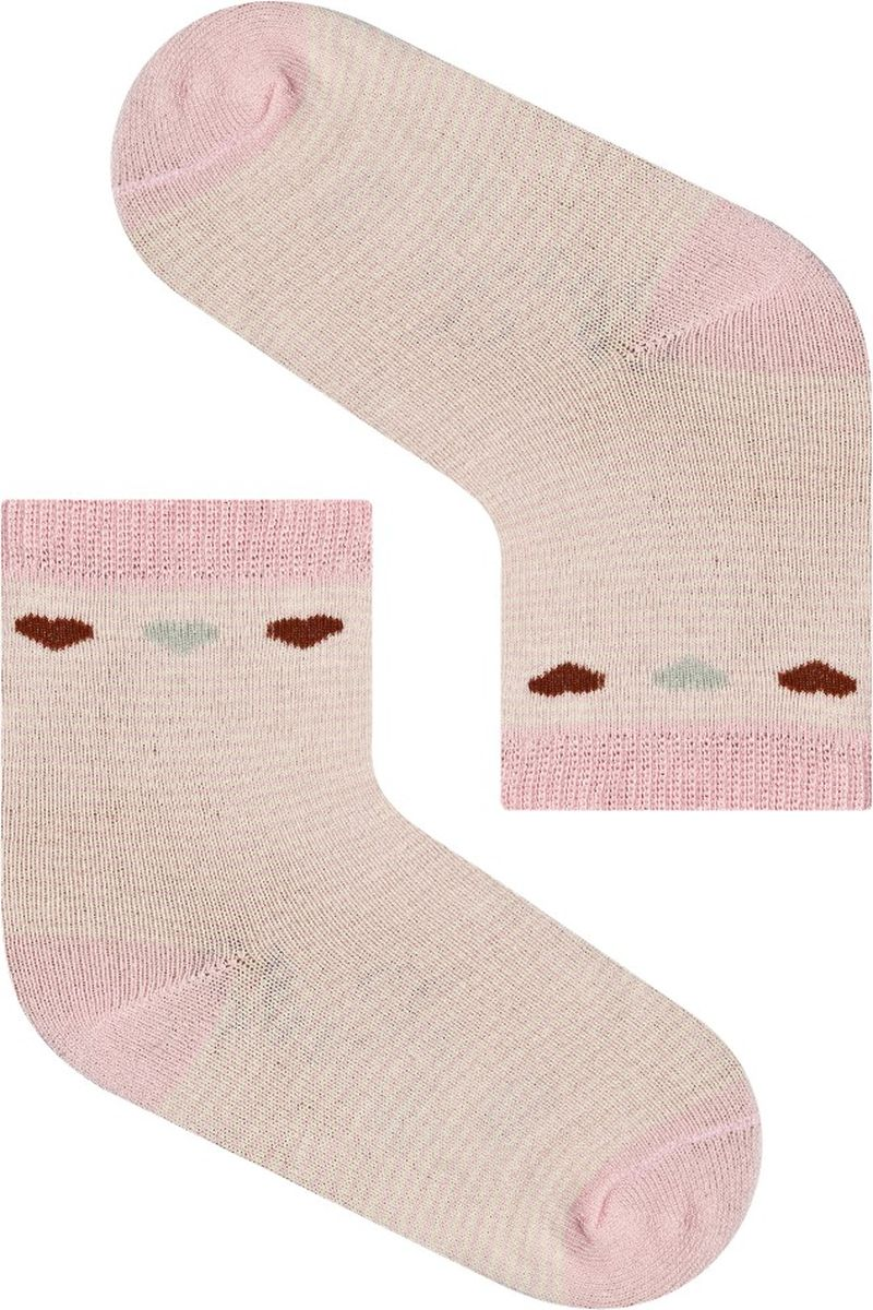 Носки для девочки Idilio, цвет: розовый. SG13. Размер 30/32SG13Комфортные носки для девочек с добавлением экологически чистого хлопка, изготовленные без применения химических красителей.