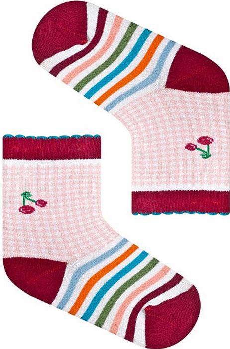 Носки для девочки Idilio, цвет: бордовый. SG07. Размер 30/32