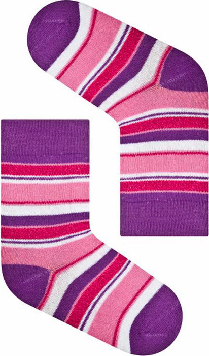 Носки для девочки Idilio, цвет: фиолетовый. SG04. Размер 27/29