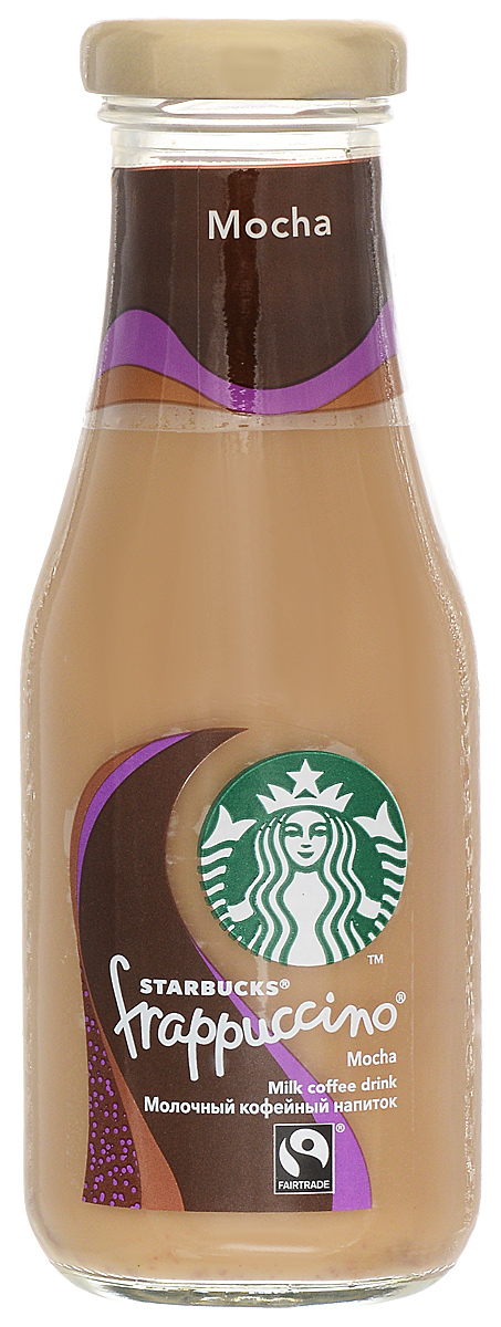 Starbucks Frappuccino Mocha, молочный кофейный напиток, 1,2%, 250 мл65584Загадка яркого кофейного вкуса со сливочно-шоколадными нотками, который превратился в тайну под крышкой бутылки.
