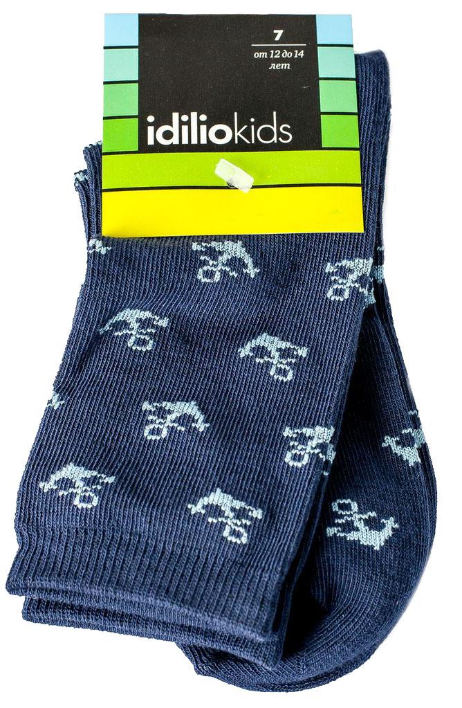Носки для мальчика Idilio, цвет: синий. SB21. Размер 27/29SB21Комфортные носки для мальчиков с добавлением экологически чистого хлопка, изготовленные без применения химических красителей.